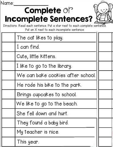 Incomplete sentence Training